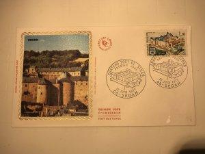 France Colorano silk FDC, 12 juin 1971, Château fort de Sedan