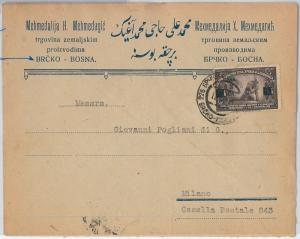 58500  -  BOSNIA -  POSTAL HISTORY: OVERPRINTED STAMP on COVER to ITALY 1924