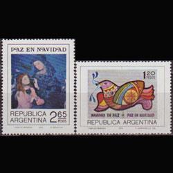 ARGENTINA 1974 - Scott# 1053-4 Christmas Set of 2 NH