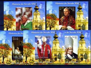 Sao Tome & Principe 2004 Pope John Paul II (9) Deluxe s/s mnh.vf