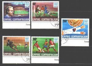 Central African Republic. 1978. 600-4. Argentina 1978 FIFA World Cup. USED.