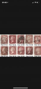 10off Used SG 43/44 Stamps [Ideal as Gap Fillers Cat £65] (2884)