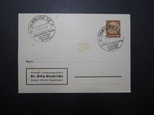 Germany 1937 Hamburg Pioneers Event Card / Hinge Rems - Z11772