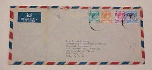 SINGAPORE  1949 COVER #26 cat.$27.50 to new york