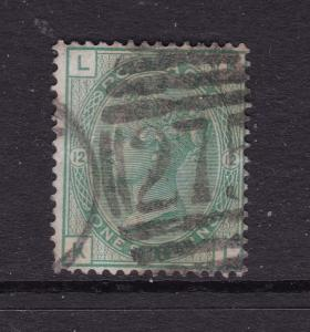 Great Britain a used QV 1/- green plate 12 from 1873