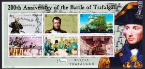 Solomon Is. Bicentenary of the Battle of Trafalgar sheet $260 SG#1093-1098