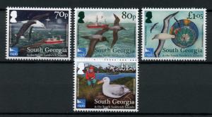 South Georgia & Sandwich Isl 2017 MNH Albatross Consrv RSPB 4v Set Birds Stamps