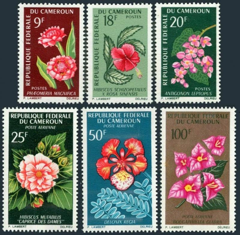 Cameroun 441-443,C70-C72,MNH.Michel 463-468. Flowers 1966.