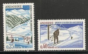 Andorra French 169-70 1966 Winter Sports set NH