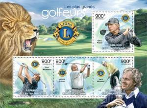 CENTRAFRICAINE 2012 SHEET GOLF PLAYERS LIONS CLUB
