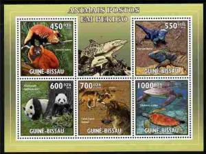 Guinea-Bissau MNH S/S Endangered Animals 2010