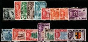 SARAWAK SG171/86 1950-2 DEFINITIVE SET MTD MINT