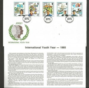 1985 Scouts Jersey Girl Guides 75th anniversary IYY FDC