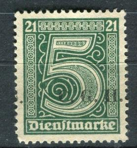 GERMANY;  1920-22 Silesia Allied Commission issue Hinged 5pf. Upright Optd.