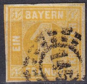 Bavaria #9  F-VF Used CV $20.00 (A18318)