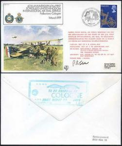 FF1-Ab 60th Ann of the 1st Scheduled UK Int Air Mail Service Pilot Signed (A)