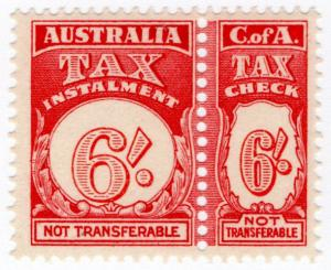 (I.B) Australia Revenue : Tax Instalment 6/-
