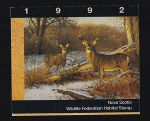 Canada (Nova Scotia) VD #NSW1 (1992) Wildlife Duck Stamp Revenue Booklet