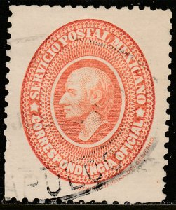MEXICO O3, THE FIRST OFFICIAL ISSUE.. Used. VF.  (751)