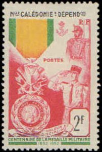 New Caledonia #295, Complete Set, 1952, Military Related, Hinged