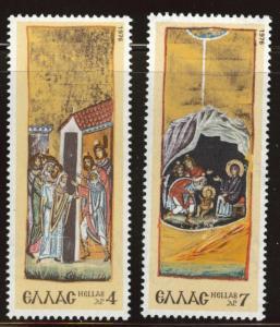 GREECE Scott 1191-1192 MNH** 1976 Christmas set