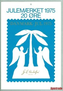 Denmark. Christmas Seal.1975.1 Post Office,Display,Advertising Sign.H.C.Andersen