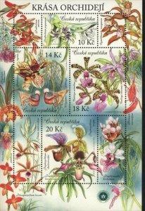 CESKA MNH 2012 ORCHIDS Souvenir sheet