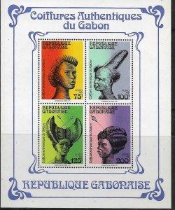GABON  489a  MNH   TRADITIONAL HAIRSTYLES SOUVENIR SHEET