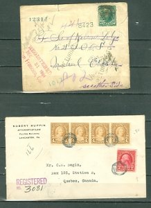 US LOT of (4) EARLY COVERS incl. (2) REGISTERED