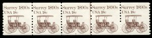 US #1907 PLATE NUMBER COIL 8, VF/XF mint never hinged, strip of 5,  NICE and ...
