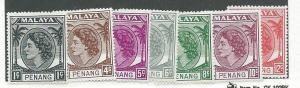 Malaya -Penang #29,31,32,33,34,35,36   (MLH) CV $4.90