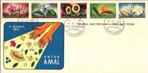 Indonesia, Worldwide First Day Cover, Flowers