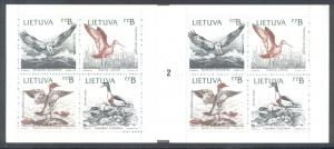 Lithuania Sc 427-30 1992 Baltic Birds stamp booklet mint NH