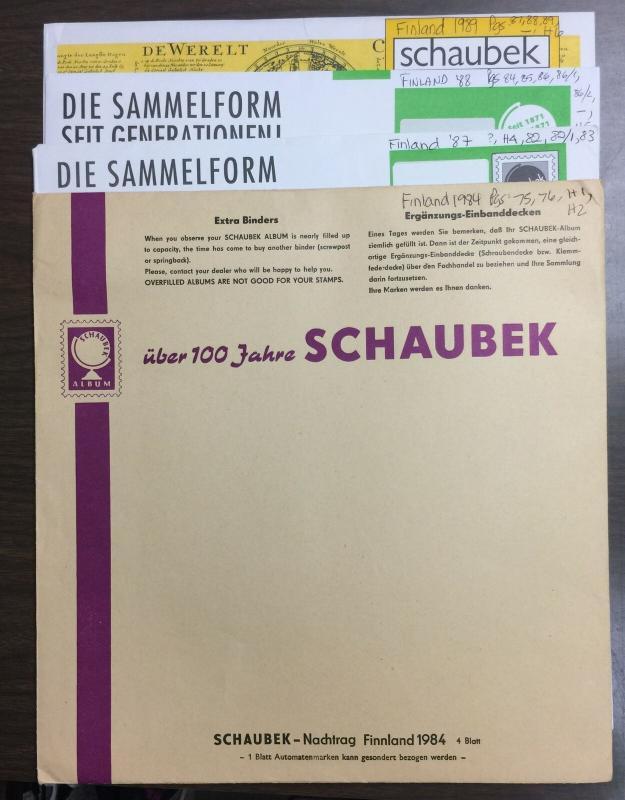 SCHAUBEK VARIETY SCANDANAVIAN ALBUM PAGES - 108 PAGES