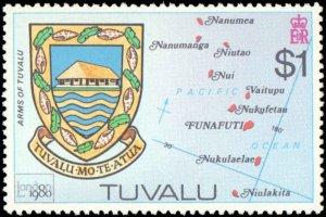 Tuvalu #133-136, Complete Set(4), 1980, Never Hinged