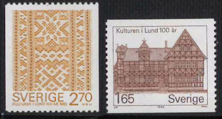 SWEDEN Sc#1408-1409 Cultural History Museum Centenary MNH