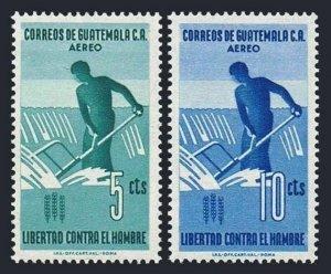Guatemala C271-C272 blocks/4,MLH/MNH.Mi 695-696. FAO 1963.Freedom from Hunger.