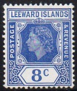 Leeward Islands 1954 8c ultamarine MH