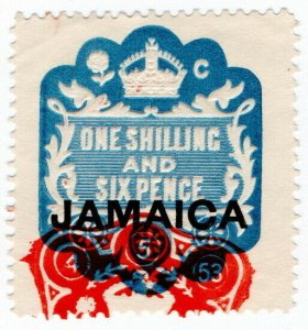 (I.B) Jamaica Revenue : Duty Stamp 1/6d (die C)