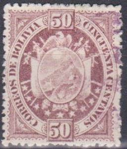 Bolivia #45 F-VF Used CV $20.00(A11107)