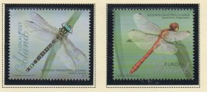 Aland Finland Sc 332-33 2012 Dragonflies stamp set  mint NH