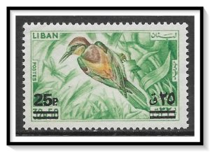 Lebanon #459 Bird Surcharged MH