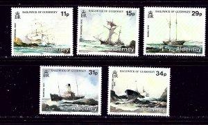Guernsey-Alderney 32-36 MNH 1987 Shipwrecks