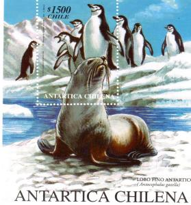 Chile 1999 Antarctic Seal Penguins s/s Perforated mnh.vf