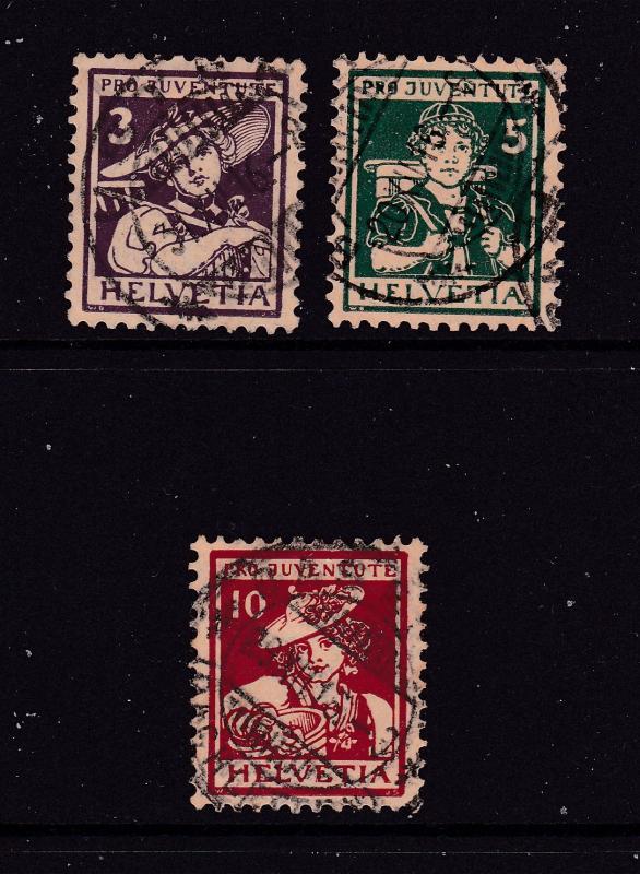 Switzerland the 1916 Pro Juventute set used
