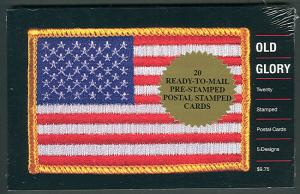 US #UX394a 23¢ Old Glory type Booklet of 20 cards, VF