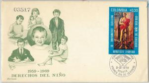 61527 - COLOMBIA - POSTAL HISTORY -  FDC COVER:   Children RIGHTS   1970