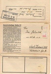 DACHAU GERMANY  1943   FDC8743