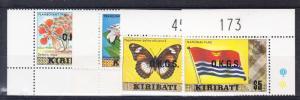 Kiribati Scott O8a,O10a,O12a,O15a Mint NH (Catalog Value $33.00)