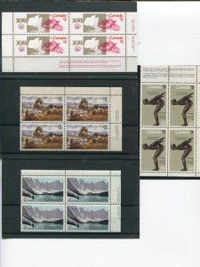 Canada 4 diff. $2.00 Plate Blocks  VF -  Lakeshore Philatelics